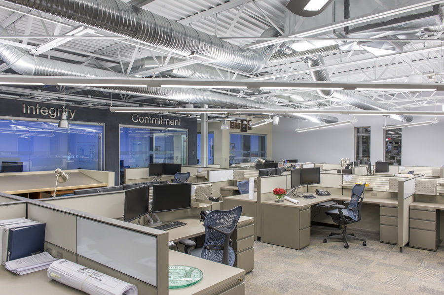Turner construction office tech valley office interiors for Office interior contractor
