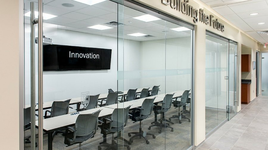 Our work tech valley office interiors for Office interior contractor