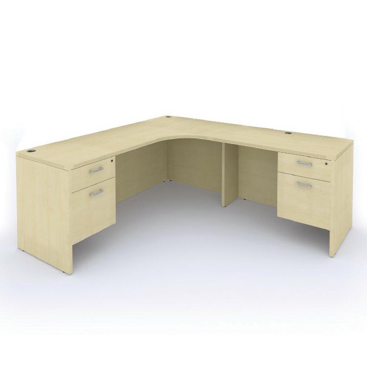 Cherryman Amber L Desk With Suspended Pedestals